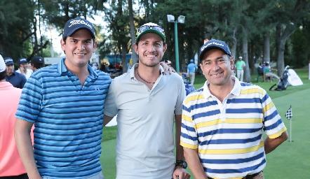 Antonio Morales, Octavio Aguillón y Víctor Ortiz.