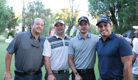 Paolo Favoratto, Mauricio Méndez, Andrew Delgado y Jorge Palomar.
