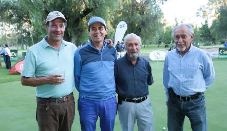 Óscar Gaviño, Emigdio Melo, Leonel Fajardo y José Fajardo.