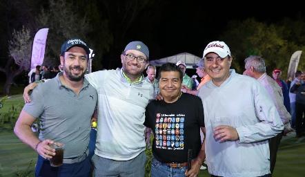 Manuel Alatorre, Mauricio Osorio, Manuel Cid y Toño Sandoval.