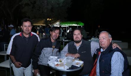 Héctor Gutiérrez, René Gutiérrez, Mario Ramírez y Oscar A. Rangel.