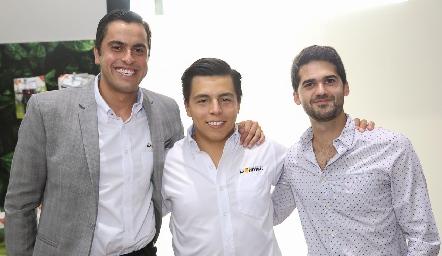 Omar Díaz, Lisandro Bravo y Mauricio Canales.