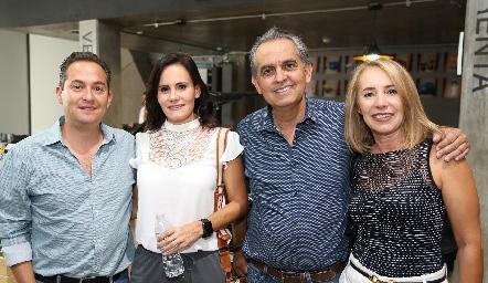 Urbano, Lucía y Fernando Díaz de León y Laura Lavín.