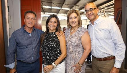 José Safont, Anyul Kury, Ángeles Barba y Enrique Morales.