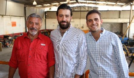 Ramón Monsech, Ferran Monsech e Iker Monsech.