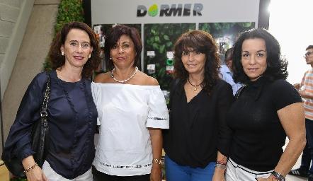 Carmen Bravo, Adriana Sánchez, Claudia Sánchez y Adriana Espinosa.