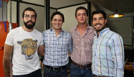 Guillermo Báez, Rubén Rangel, Edgar García y José Manuel Lázaro .