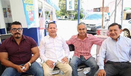 Carlos Jiménez, Pedro Balderas, Jerónimo López y Ricardo Arce .