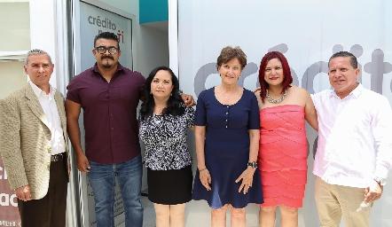 Martin Arias, Carlos Jiménez, Lina del Carmen Juárez, Rosario Fernández, Karla Ramos y Pedro Balderas.