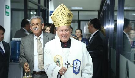 Carlos Cabrero Romero, Arzobispo de San Luis en la Inauguración de Laboratorio Tequis.