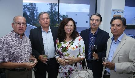 Nereo Anaya, Juan Alonso, Ana Luisa Molina, Alejandro Zermeño y Rubén Ramos.