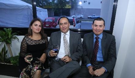 Gabriela de León, Francisco Morín y Jesús Camacho.