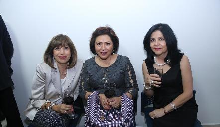 Erika Torres, Ale Martínez y Martha Limas.