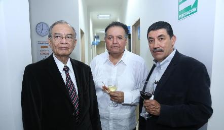 Benjamín Moncada, Javier Isordia y Tomás Lascano.