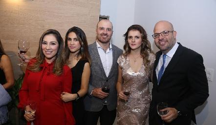Michel Cabrera, Ana Laura, Alberto Borjas, Laura y Fernando.