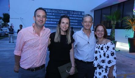 Miguel Ocejo, Alejandra Pérez, Fernando y Lorena Álvarez Tostado.