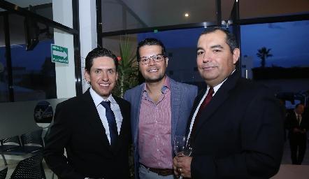 Ricardo Quezada, Jesús Rosillo y Antero González.