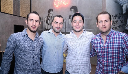 Poncho López, Jesús Villalpando, Pato Nieto y Héctor Fernández.