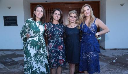 Comadres María José Abaroa, Fer Félix, Erika Matuk y Marisol Valladares.