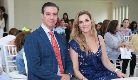 Marcelo Galán y Marisol Valladares.