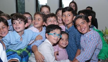 Marcelo con sus amigos.
