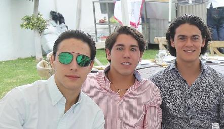 Salomón Dip, Raúl Suárez y José López.