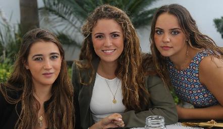 Laura Pelayo, María Emilia Torre y Paula Gómez.