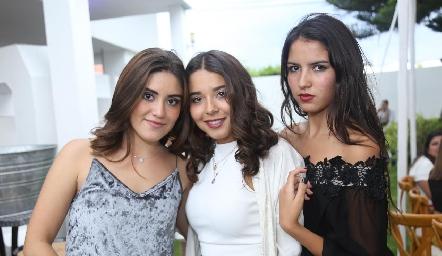 Ale Godiba, Luisa Rocha y María Alcalde.