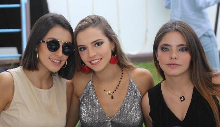 Ximena Nieto, Francesca Hinojosa y Renata Nava.