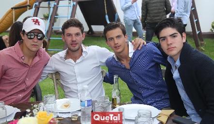 José Madrigal, Oscar Mendizábal, José Miguel Meade y Jorge Gutiérez.
