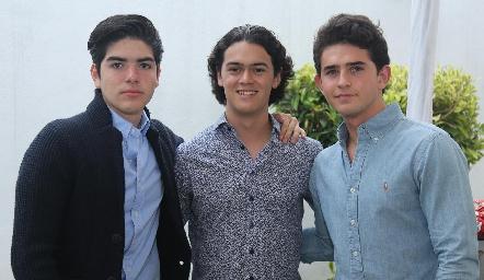 Jorge Gutiérrez, José López y Alonso Reyes.