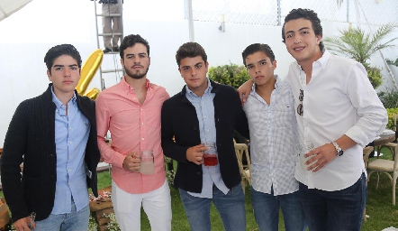 Jorge Gutiérrez, Jerónimo Gómez, Eduardo Mancilla, Gonzalo Alcalde y Alejandro Anaya.