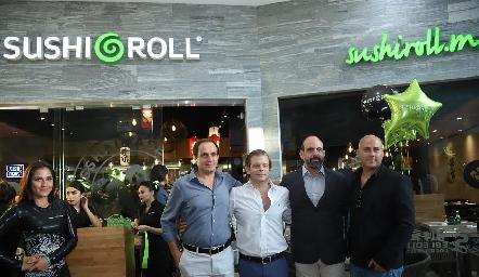 Manolo Abad, Juan Carlos Feres, Félix Feres y Jorge Atala.