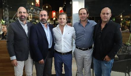 Félix Feres, Gustavo Puente, Juan Carlos Feres, Manolo Abad y Jorge Atala.