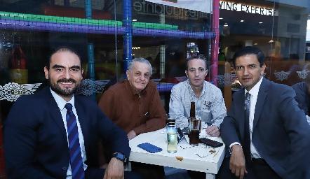 Ricardo Núñez, Manolo Abad, Gigi y Carlos Pineda.