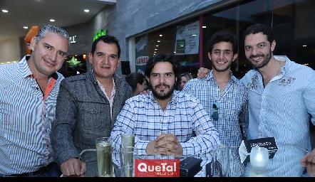 Luis Castro, Oscar Pérez, Anuar Zarur, Julián Abud y Karim Zarur.