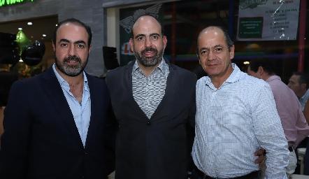 Gustavo Puente, Félix Feres y Elías Abud.