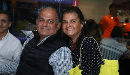 Jorge Schekaibán y Beatriz Franco.