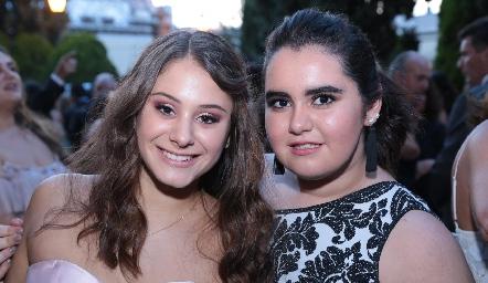 Alexia Revuelta y Martita Payán.