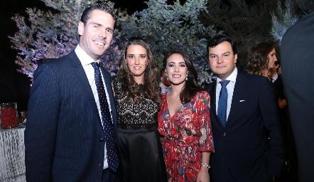 Adolfo Riveroli, Paulina Hernández, Mari Ceci Herrera y Raúl Torres.