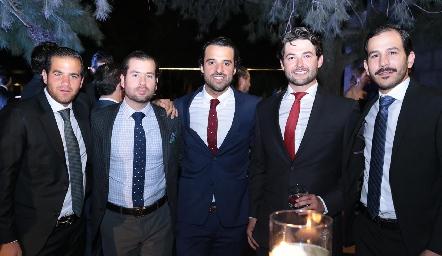 Samer Medlich, José Zendejas, Samuel Romo, Oscar Rangel y Daniel Mendizábal.