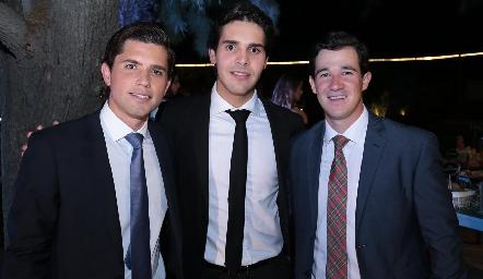 Gerardo Serrano, Mauricio Tobías y Juan Pablo González.