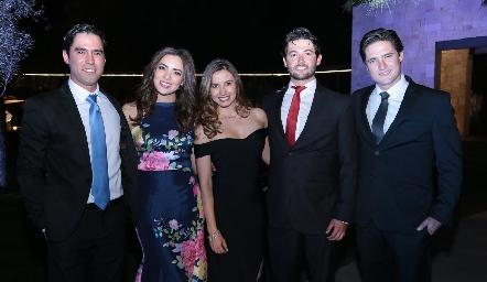Alejandro González, Nadia Solís, Brenda Magaña, Oscar y Rubén Rangel.