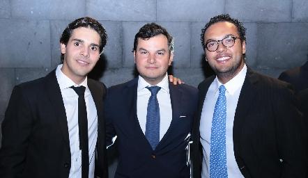 Mauricio Tobías, Raúl Torres y Javier Campos.