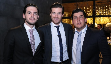 Eduardo Torre, Roberto Lozano y Toro Gómez.