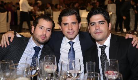 José Zendejas, Gerardo Serrano y Mauricio Motilla.