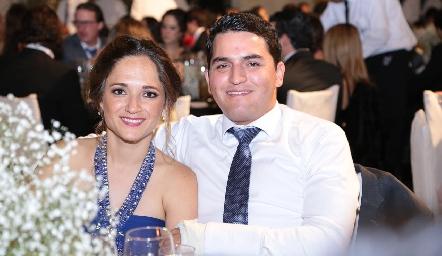 Alejandra Rangel y Rodrigo de la Rosa.