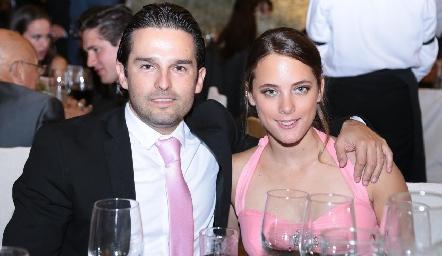 Arturo González Rangel y Rebeca Acosta.