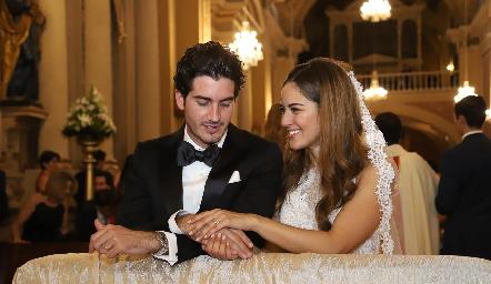 Chema y Ana Pao ya son esposos.