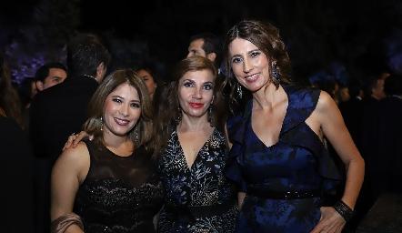 Aida Siller, Rocío Ortiz y Verónica Rodríguez.